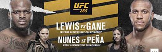 UFC 265 Lewis vs Gane PPV