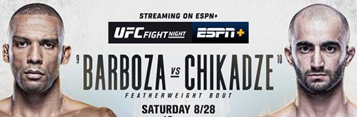 UFC On ESPN 30 Barboza Vs Chikadze